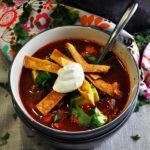 Roast Chicken Tortilla Soup