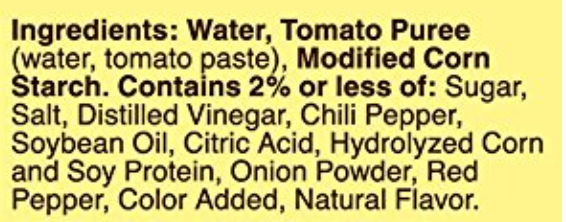 ingredients list of canned red enchilada sauce