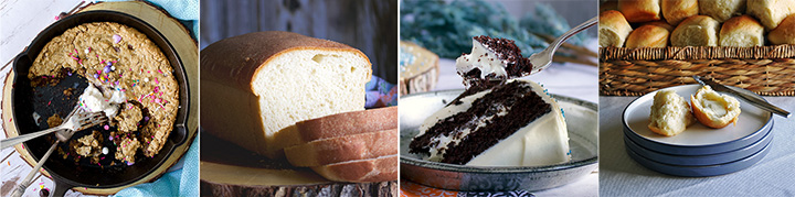 Four suggested recipes for the baker.