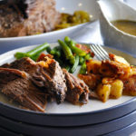 A plate of slow Cooker Beef Pot roast