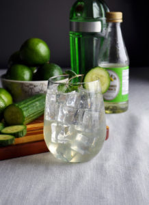 cucumber gimlet with mint