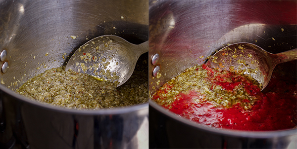How to make homemade marinara sauce.
