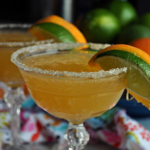 Freshly squeezed orange margaritas.