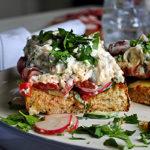 Open Face Chicken Salad Sandwich