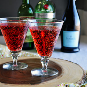 Glasses of Sparkling Negroni Cocktail