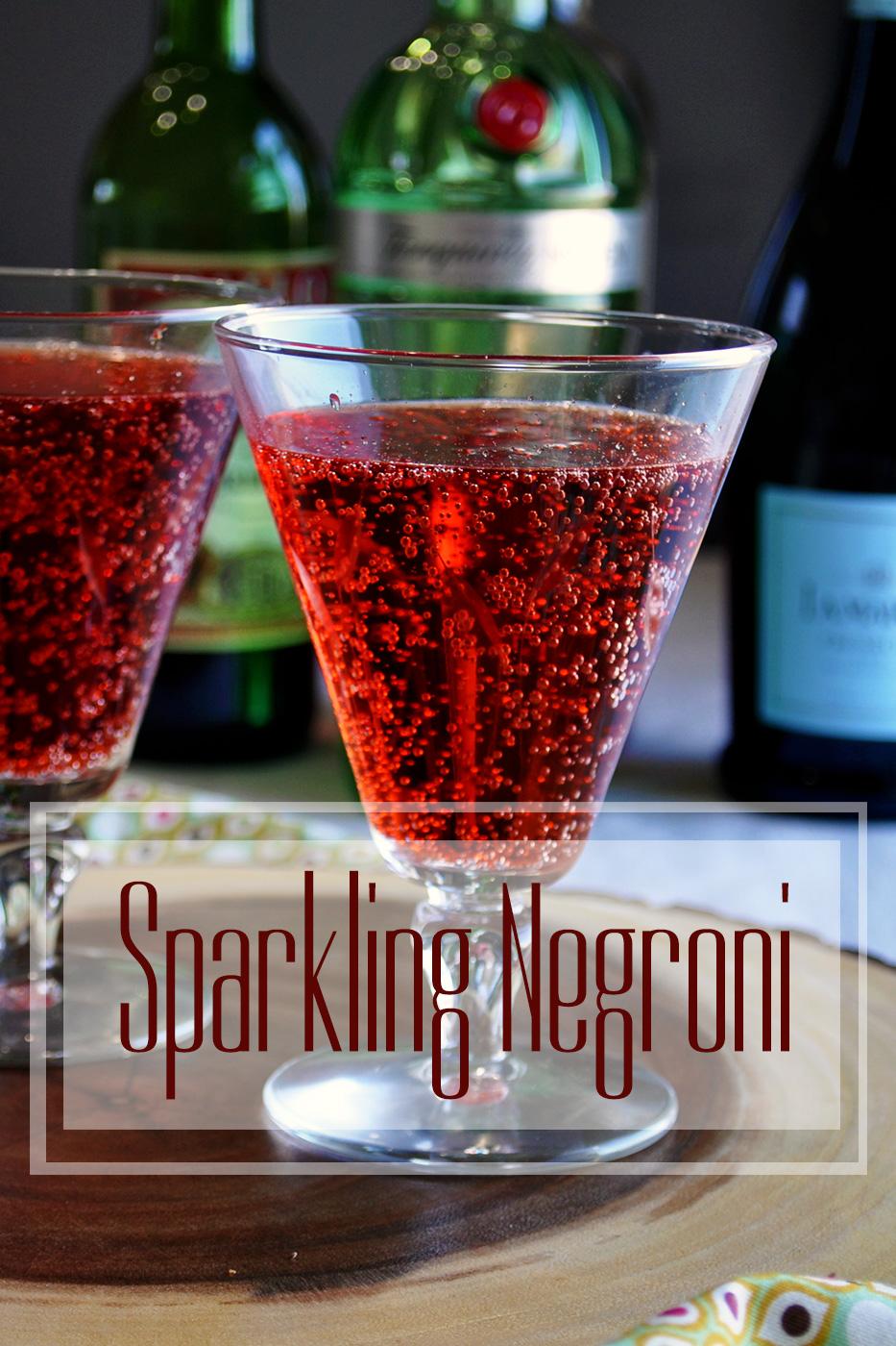 Sparkling Negroni Cocktail | alittleandalot.com