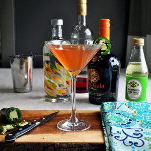 Mango jalapeño martini.
