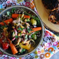 Chili Glazed Chicken Salad with Roasted Vegetables