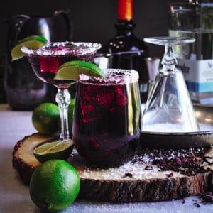 Hibiscus Tea Margaritas