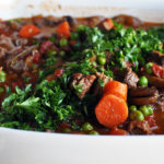 Hearty homemade vegetable beef soup.