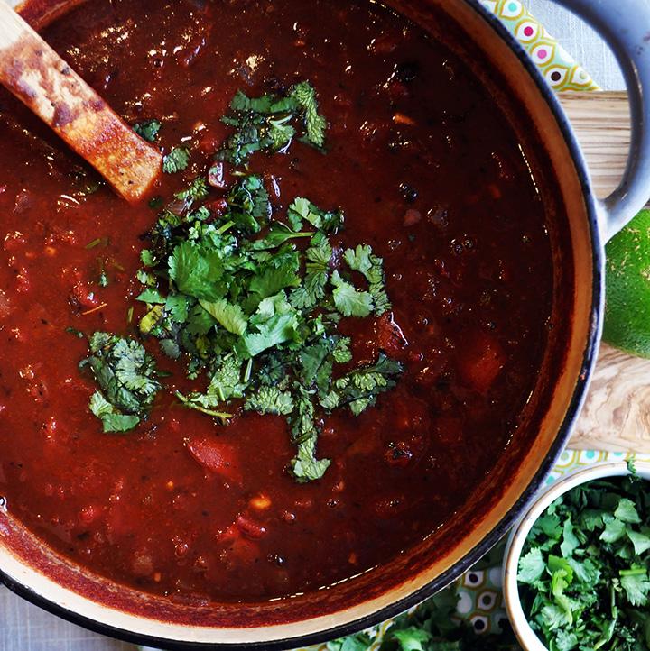 Black Bean Tomato Soup