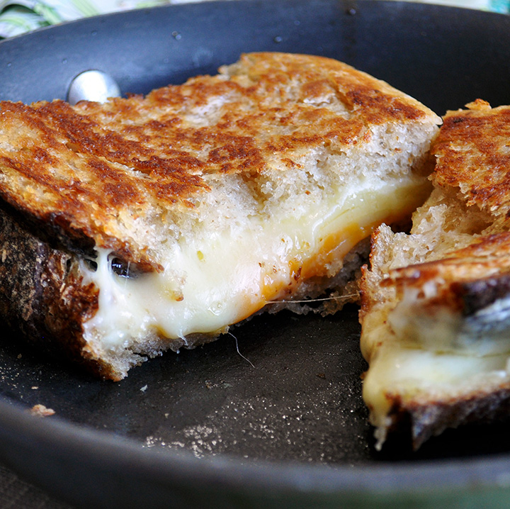 The perfect grilled cheese sandwich.