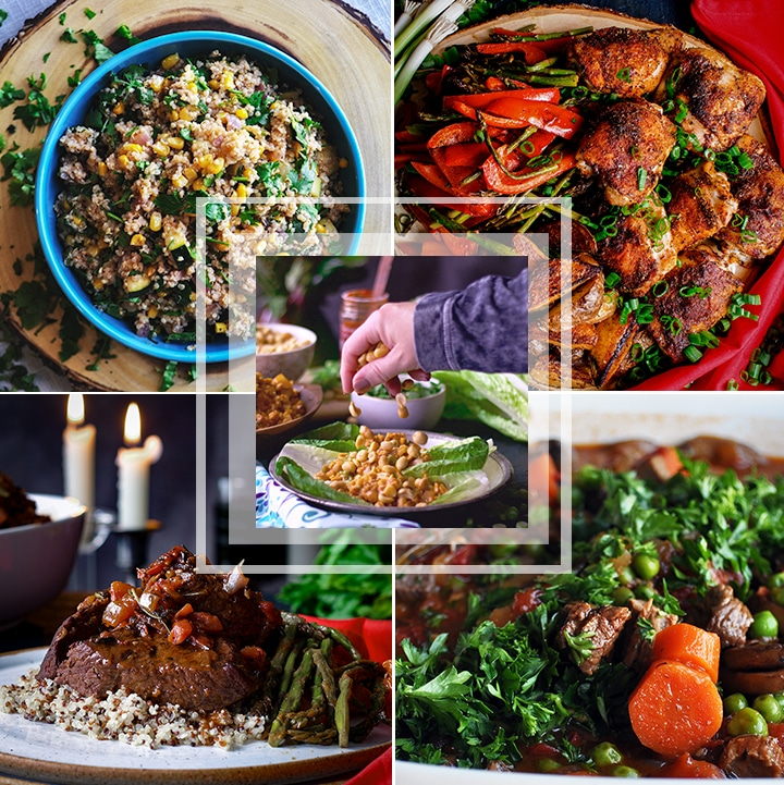 Spring Meal plan - 5 delicious recipes for what to eat for dinner this week.