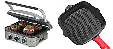 Electric Grill Pan and Cast Iron Grill Pan