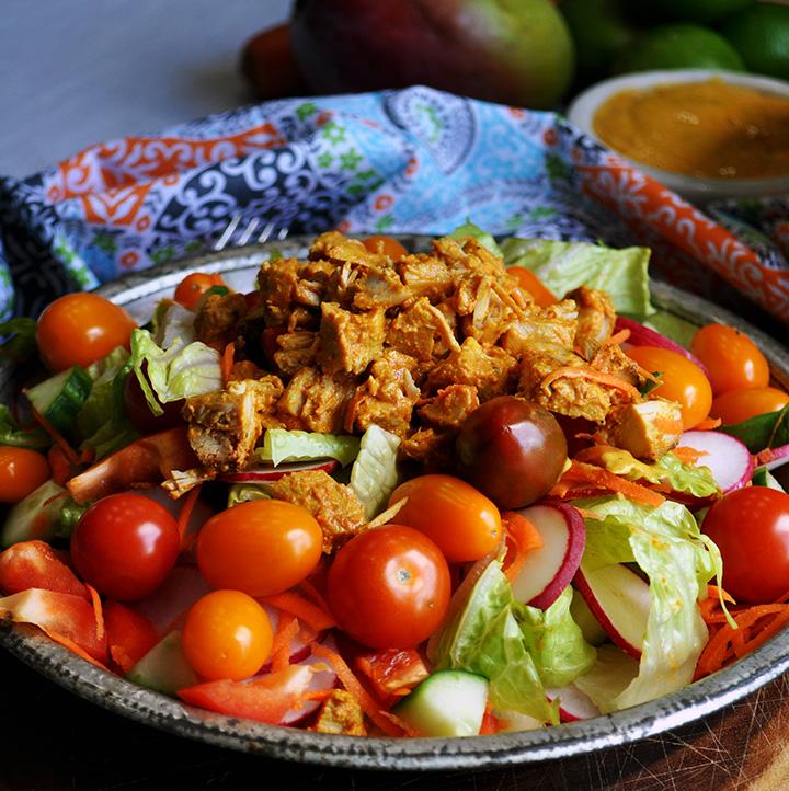 Chicken Salad with Mango Dressing