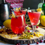 Glasses of cranberry green chili lemonade