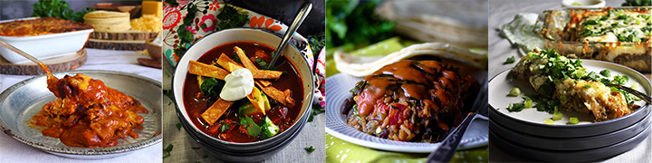 More great recipes: Chicken Tortilla Soup, Enchilada Casserole, Vegetarian Stuffed Poblano Peppers, Enchiladas Verdes