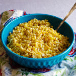 A bowl of simple oven roasted corn