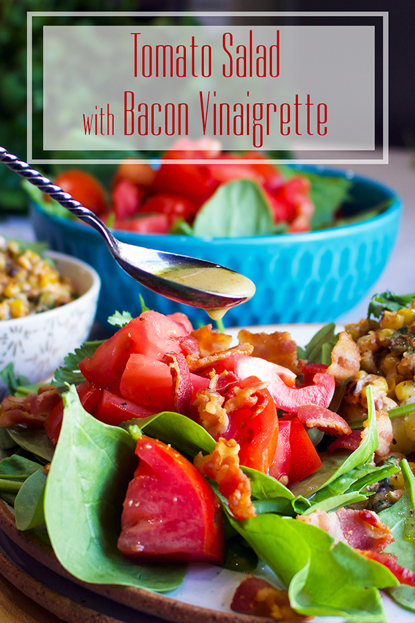 Tomato Salad with Bacon and Bacon Vinaigrette