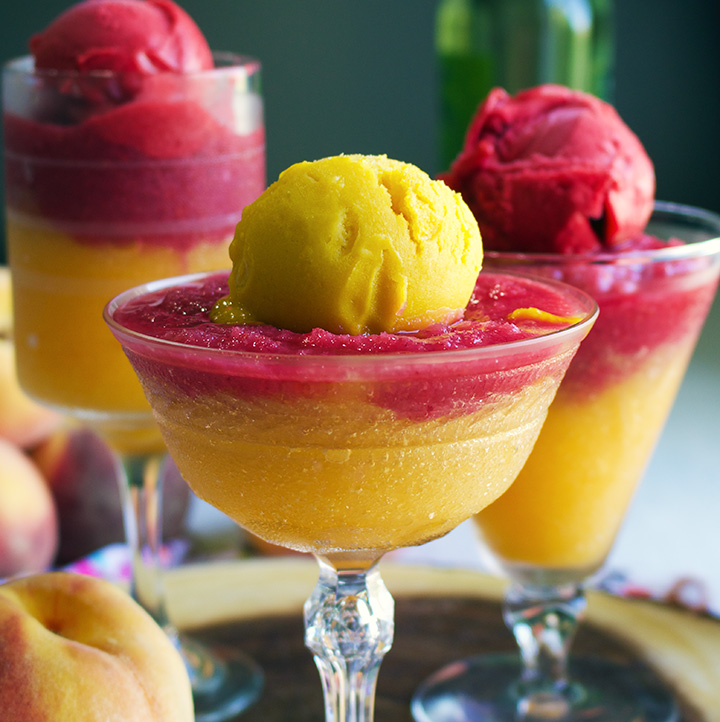 Fruit Sorbet Wine Slushies