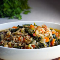 White Bean and Kale Soup with Wild Rice