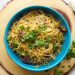 Vegetarian Spaghetti Carbonara with Portabella Mushrooms and Smoked Mozzarella
