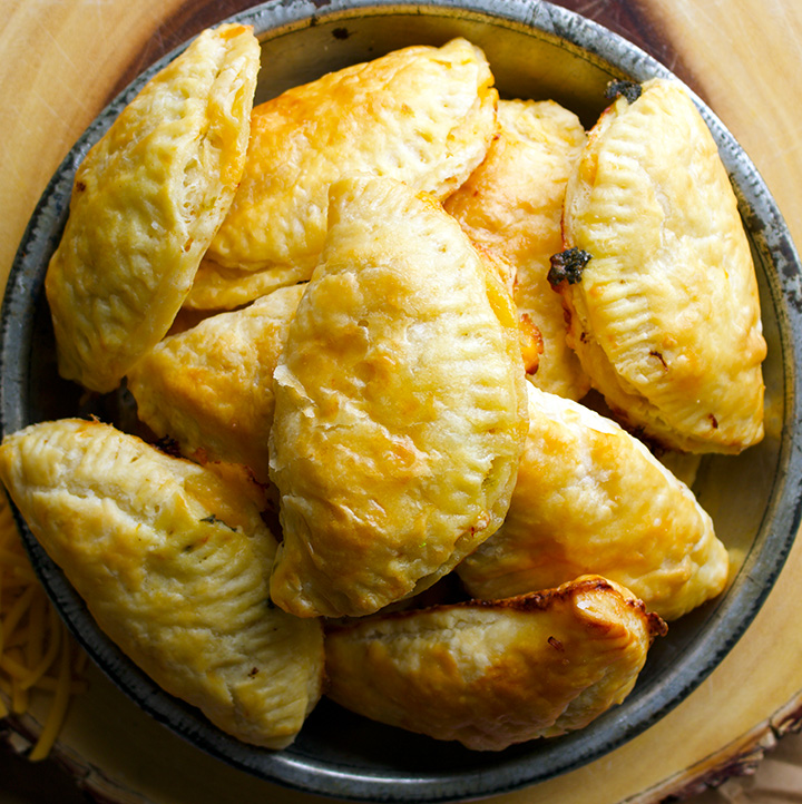 Ham and Cheese Hand Pies with Butternut Squash and Green Chilies
