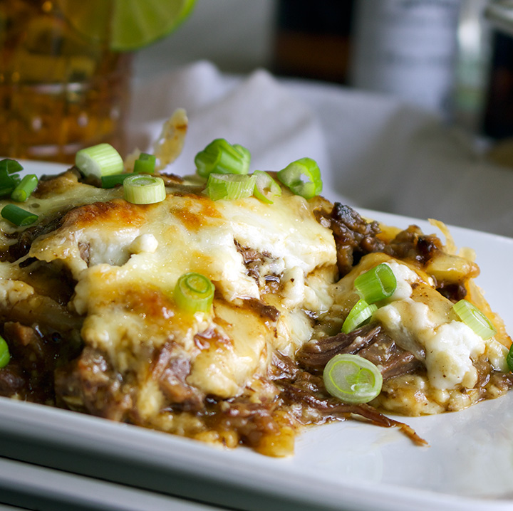 Asian Short Rib Lasagna with Béchamel Sauce