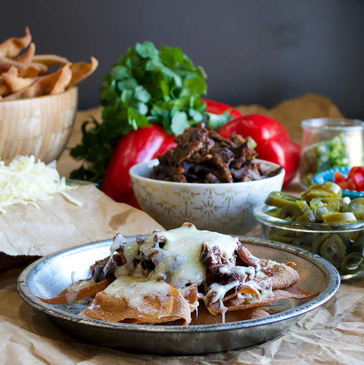 Asian Short Rib Nachos with Fried Wonton Chips