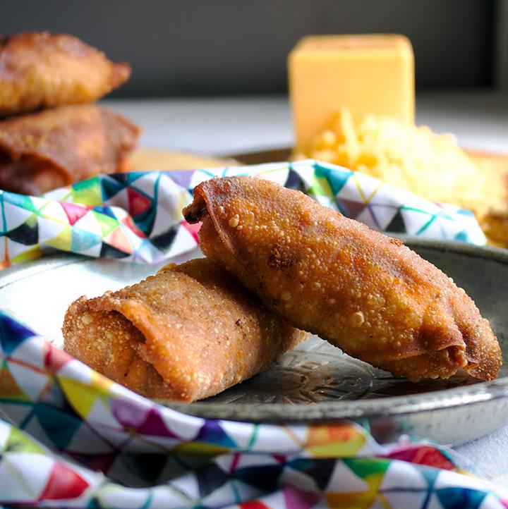 Cheesy Sloppy Joe Egg rolls