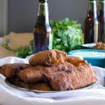 Paprika Chicken and Chorizo Chili Rellenos with Jalapeño Cream