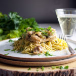 Chicken Piccata and pasta