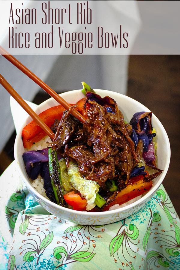 Asian Short Rib Rice and Veggie Bowl.