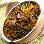 Slow Cooker Asian Short Rib Pasta with Mushrooms and Asparagus