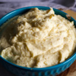 A bowl of cream cheese mashed potatoes