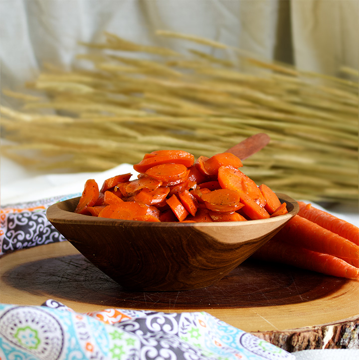 A bowl of Glazed Carrots with Brown Sugar and Butter