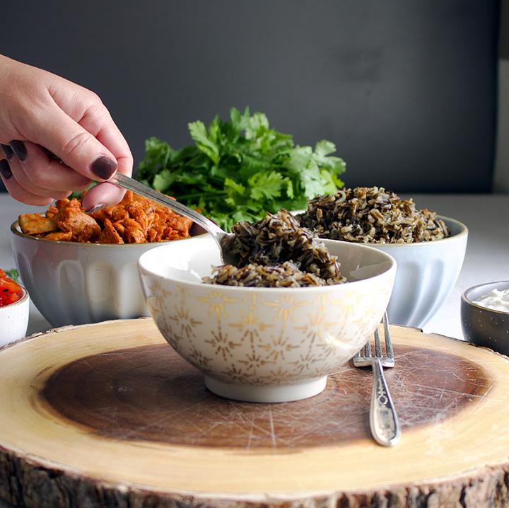 Paprika Chicken and Rice Veggie Bowls