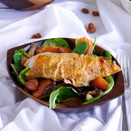 Citrus Ponzu Salad with Roast Chicken