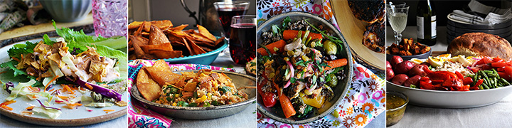Four main dish salad recipes.