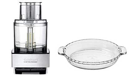 Cuisinart Food Processor and Glass Pie Plate