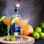 Grapefruit Margaritas with Jalapeño and Lime