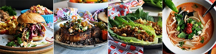 More delicious recipes: Pulled Pork Sandwiches with Pineapple Coleslaw, Cider Braised Pork Chops with Agrodolce, Chicken Lettuce Wraps, Thai Chicken Soup with Noodles