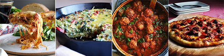 More great recipes: The BEST Lasagna with Marinara Sauce, Pasta Frittata with Italian Sausage and Broccoli Rabe, Homemade Meatballs and Marinara, Meatball and Pepperoni Pizza