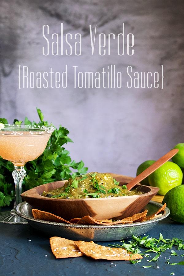 Roasted Tomatillo Sauce {Salsa Verde}