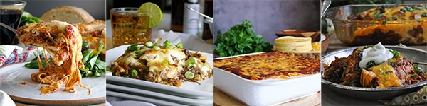 More delicious recipes: Classic Lasagna with Marinara Sauce, Asian Short Rib Lasagna, Cheese Enchilada Casserole, Slow Cooker Green Chili Baked Burritos