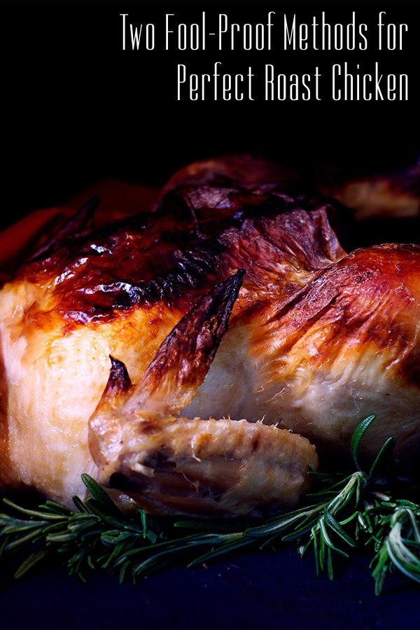 A whole buttermilk marinated roast chicken