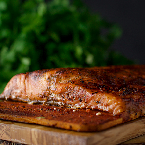 Orange and Ginger Cedar Planked Salmon