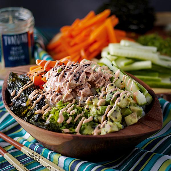 Simple Tuna Sushi Bowls
