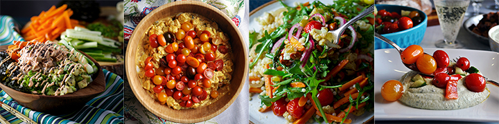 More delicious salad recipes: Weeknight Sushi Bowls in About 30 Minutes, Mustard Potato Salad with Tomatoes, Couscous Salad with Veggies and Agrodolce, Tomato Cucumber Salad with Basil Ricotta