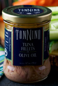 A jar of Tonnino Tuna in Oil